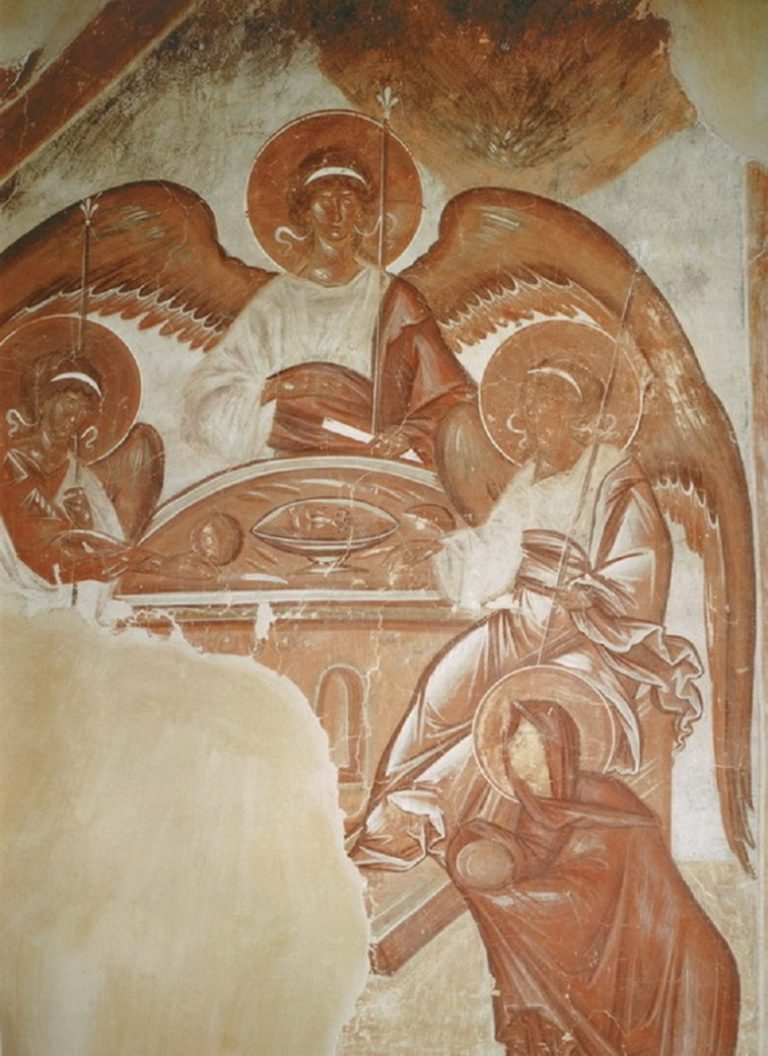 Гостеприимство Авраама. 1378 г.