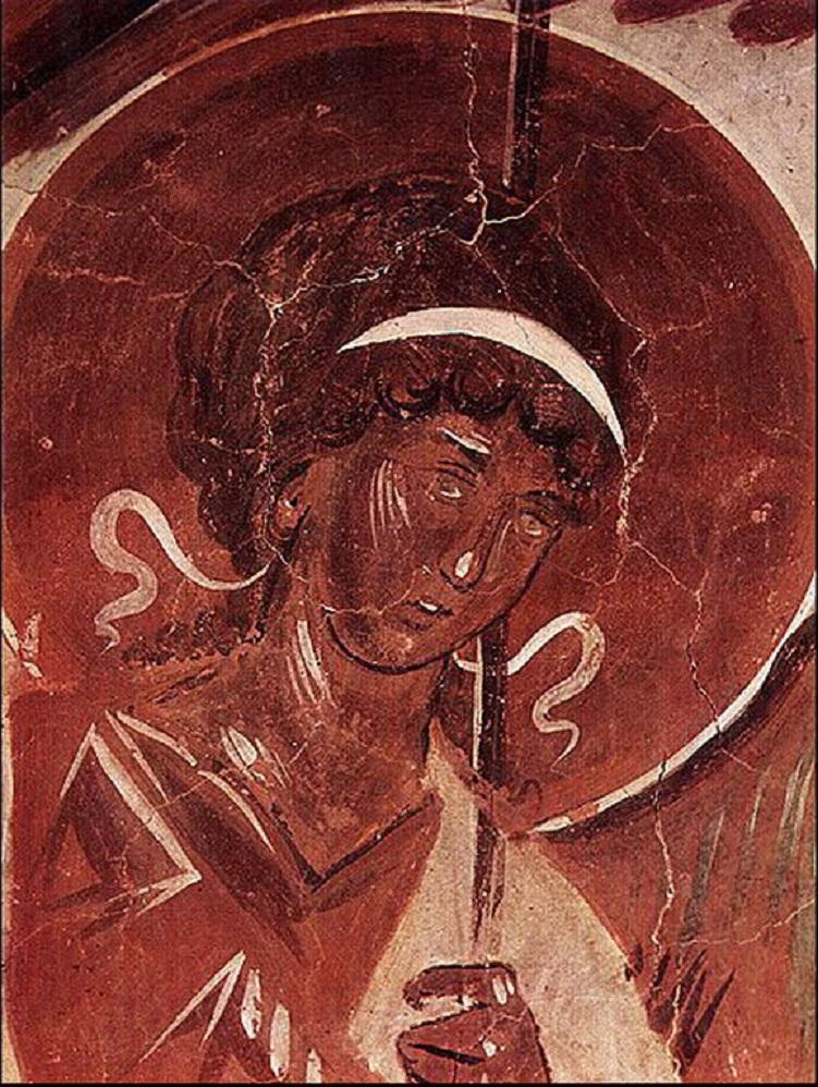 Гостеприимство Авраама. Деталь. 1378 г.