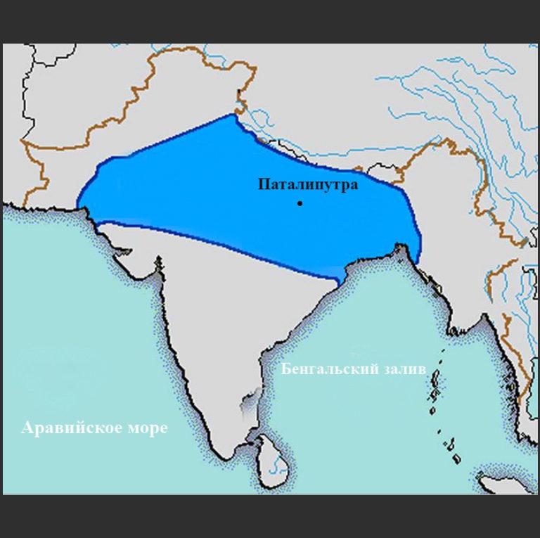 Границы государства династии Нандов