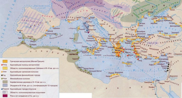 Греческая колонизация Средиземноморья в VII-III вв. до н.э.
