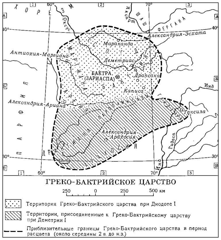 Греко-Бактрийское государство в III-II вв. до н.э.