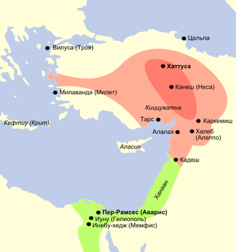 Хеттское царство. Начало XIII в. до н.э.