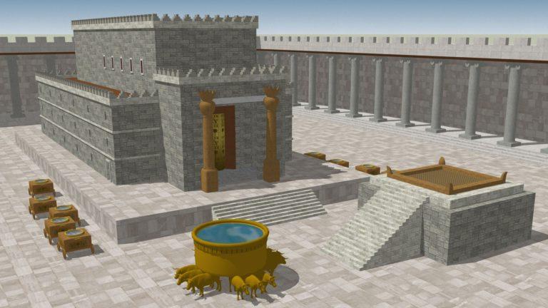 Храм Соломона в Иерусалиме (Первый Храм), разрушенный Навуходоносором II в 586 г. до н.э.