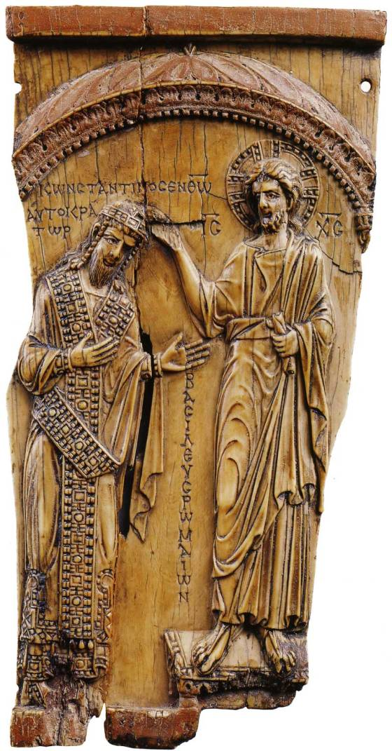 Христос, благословляющий Константина VII Багрянородного. Ок. 945 г.