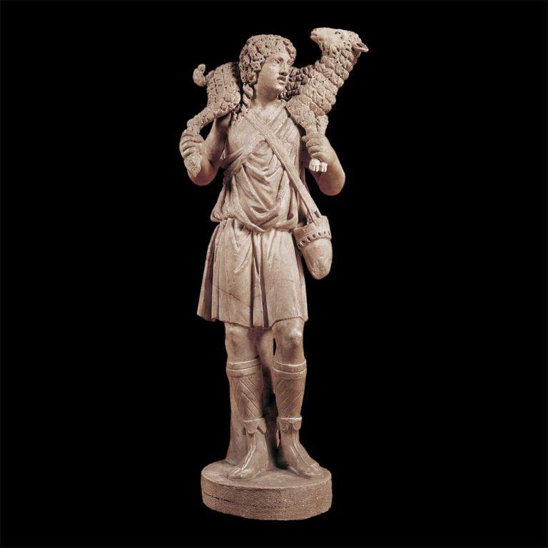 Христос – добрый пастырь. 300-350 гг. н.э. Мрамор