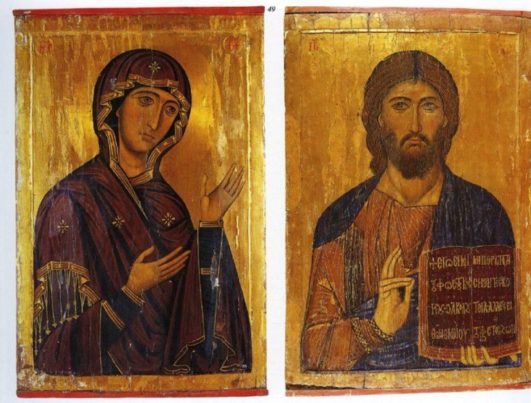 Христос и Богородица. XII в.