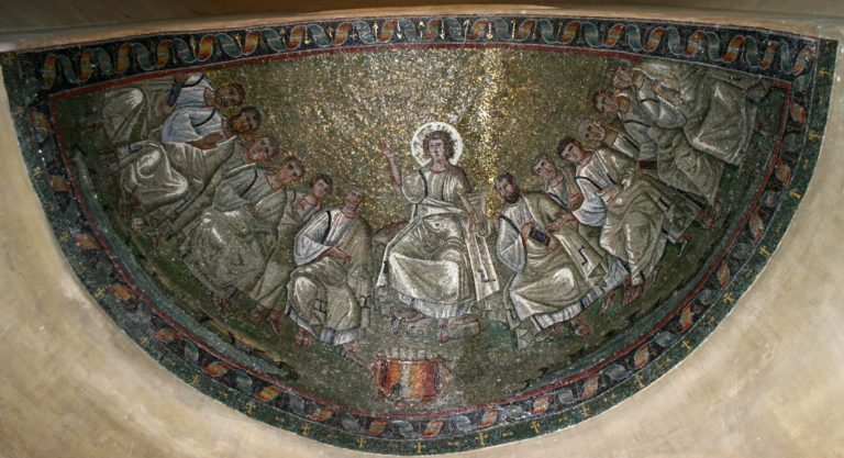 Христос и апостолы. V в.