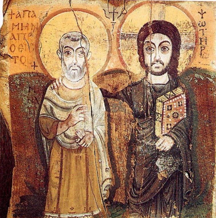 Христос и св. Мина. VI в.
