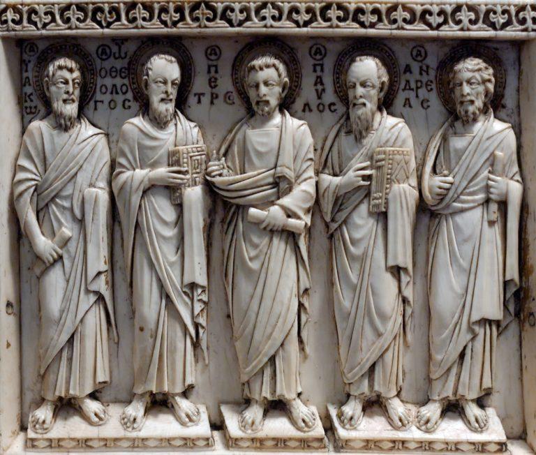 Христос с Богоматерью, Иоанном Предтечей, апостолами и святыми.  Х в.