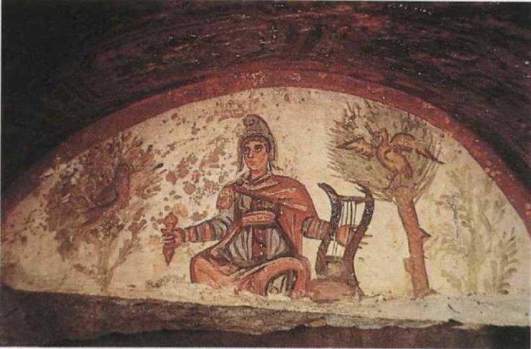 Христос в образе Орфея. III-IV вв.