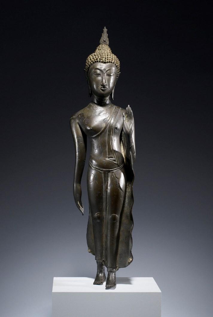Идущий Будда. Таиланд, XV в.