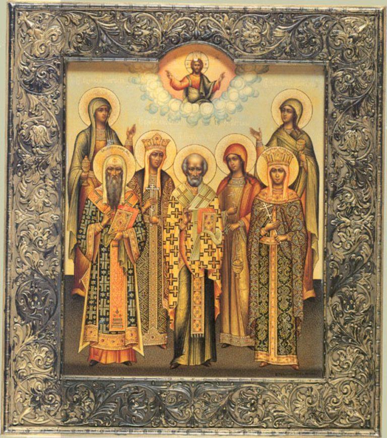 Икона святых, cоименных царской семье. 1913