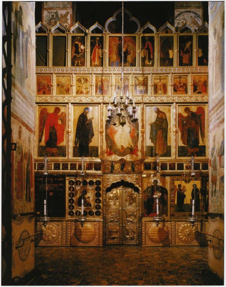 Иконостас Благовещенского собора Московского Кремля. 1405 г.