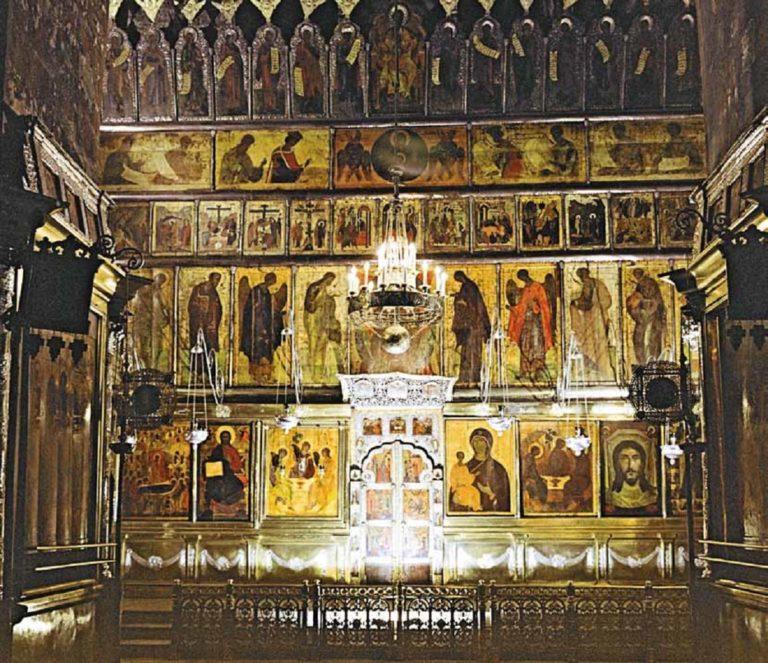 Иконостас Троицкого собора Троице-Сергиева монастыря. 20-30-е гг. XV в.
