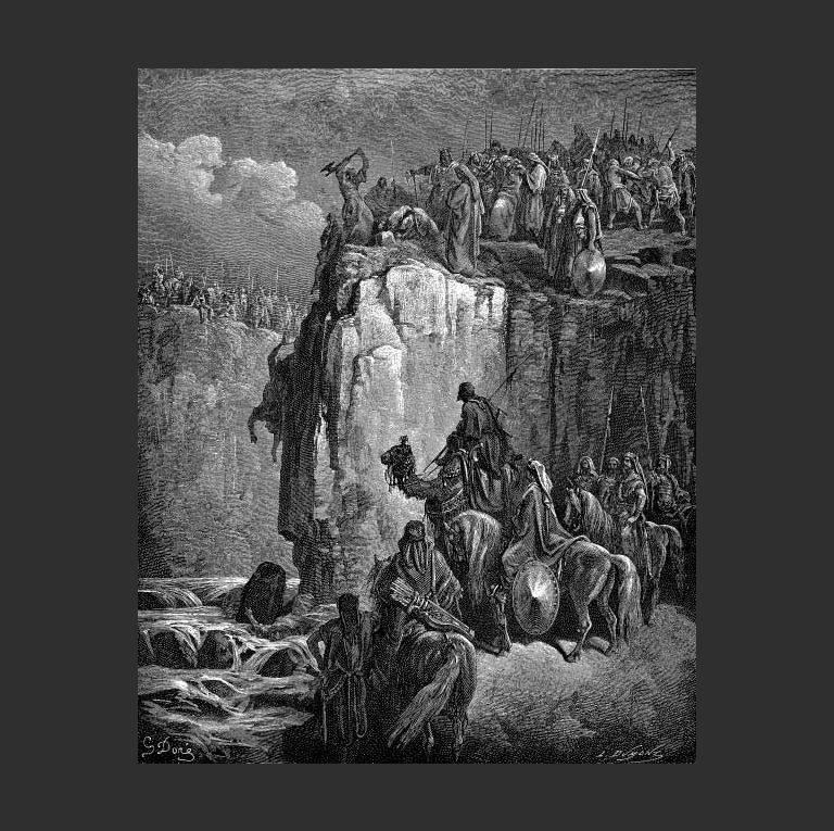Илия казнит 450 пророков Ваала. 1865