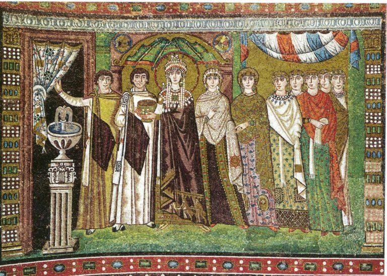 Императрица Феодора со свитой