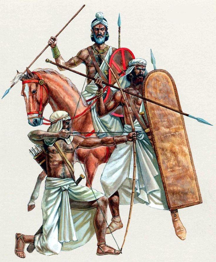 Индийские воины конца IV в. до н.э.