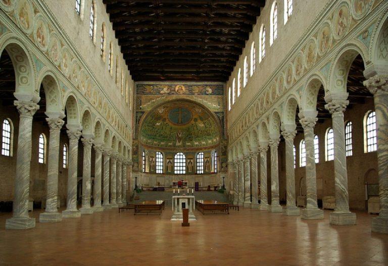 Интерьер базилики Сант-Аполлинаре-ин-Классе. VI в. Равенна