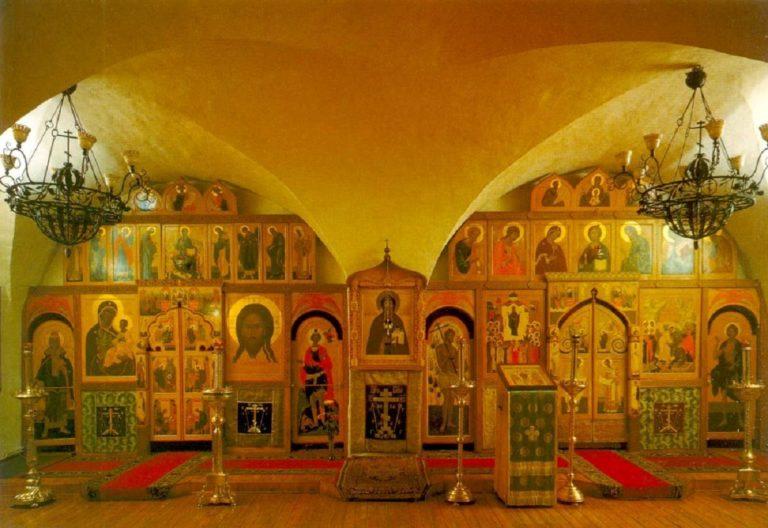 Интерьер нижнего храма церкви Св. отцов семи Вселенских соборов