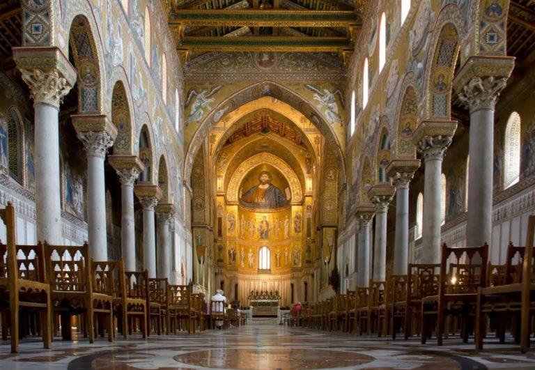 Интерьер собора в честь Рождества Пресвятой Богородицы г. Монреале. 1174—1267 гг.