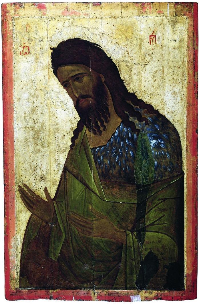 Иоанн Предтеча. Высоцкий чин. XIV в. Византийская икона