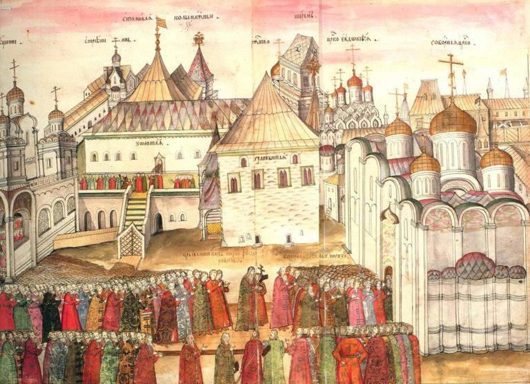 Изображение Московского Кремля из книги С. Герберштейна «Записки о московских делах». 1563 г.