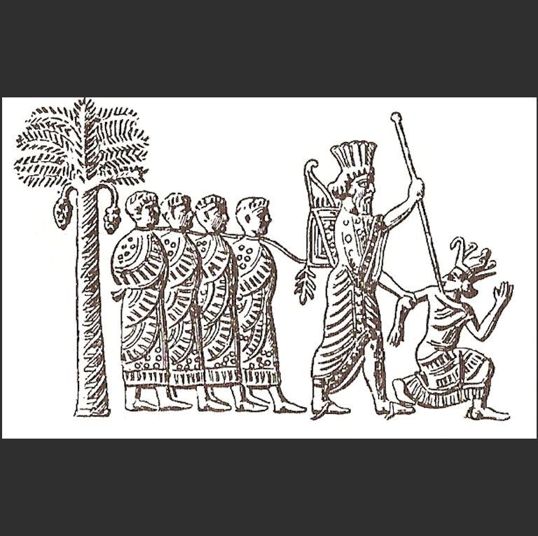Камбис II (Камбиз, Камбуджия, ум. в 522 г. до н.э.) берет в плен фараона Псамметиха III. VI в. до н.э