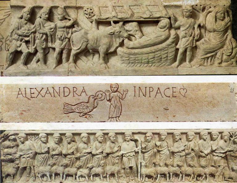 Каменная резьба на саркофагах