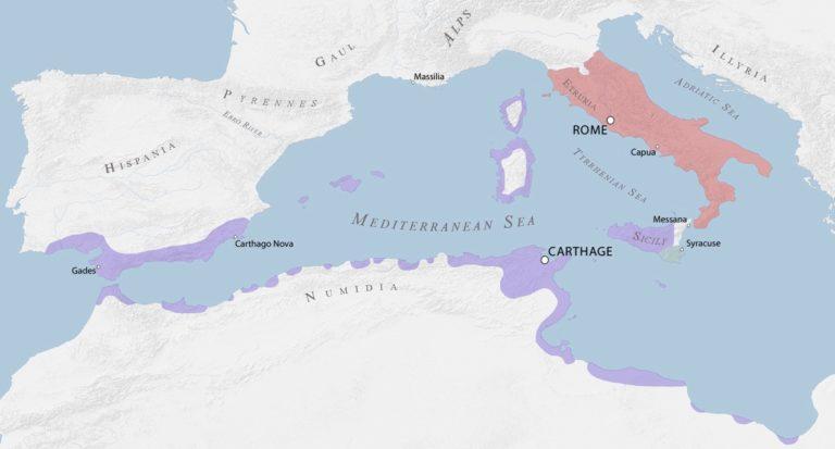 Карфагеняне и римляне накануне первой Пунической войны 264 — 241 до н. э.
