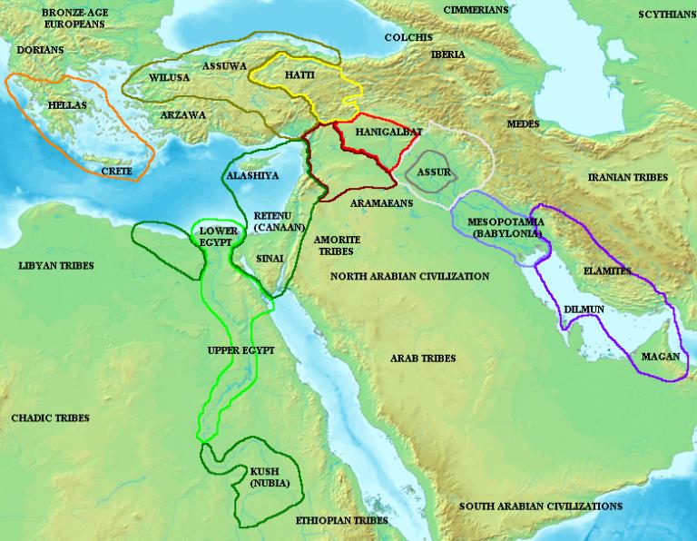 Ближний Восток и Восточное Средиземноморье в Амарнский период — ок. XIV-XII вв. до н. э.