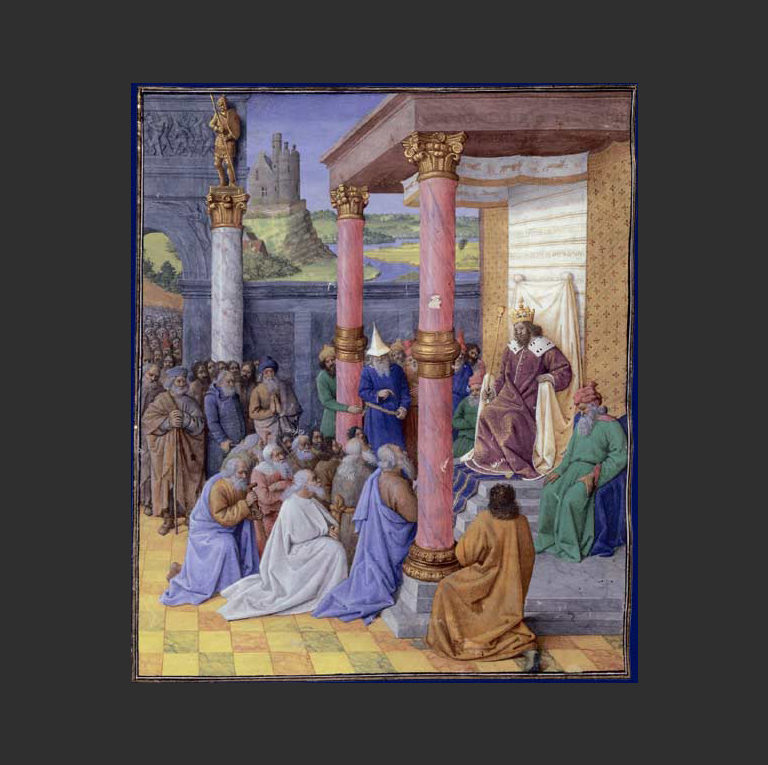 Кир Великий дозволяет еврейским старейшинам отстроить Иерусалим. 1470-1475