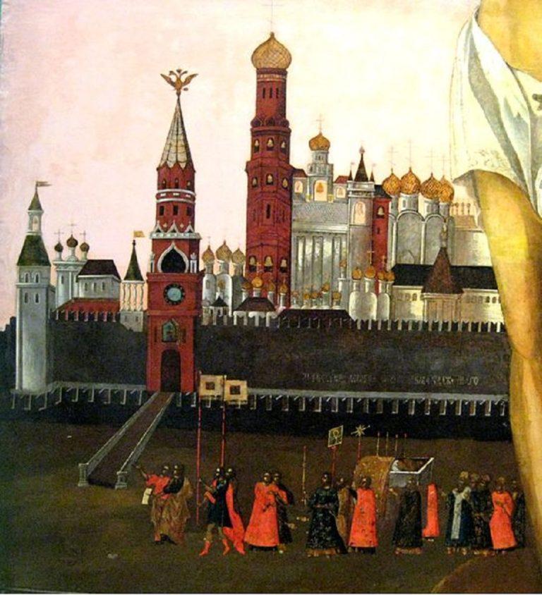 Клеймо с иконы Максима Блаженного. XVII в.