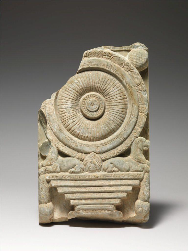 Колесо дхармы, символ Восьмеричного Пути. II–III вв. Индия