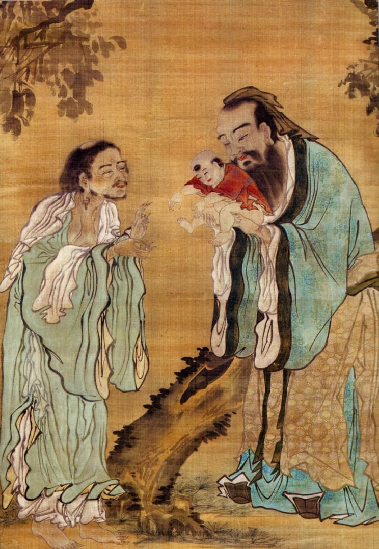 Конфуций показывает маленького Гаутаму Будду Лао-цзы