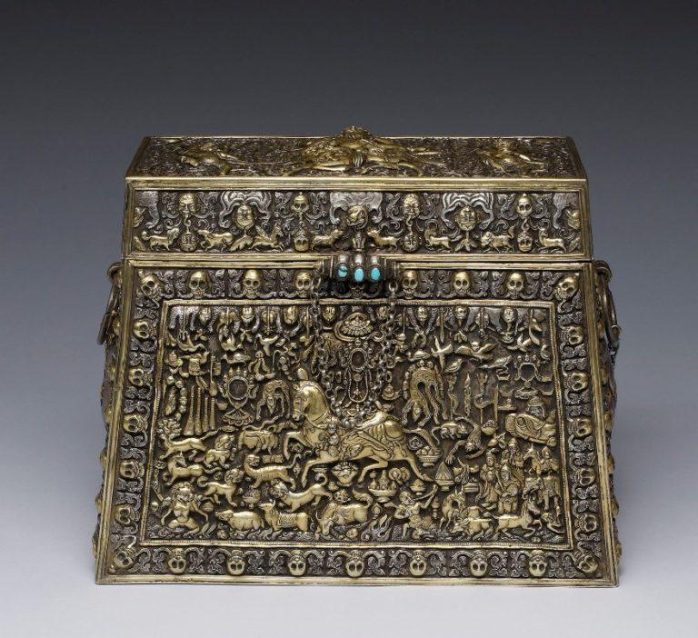 Коробка для хранения предметов тантрического ритуала. Тибет, XVIII в.