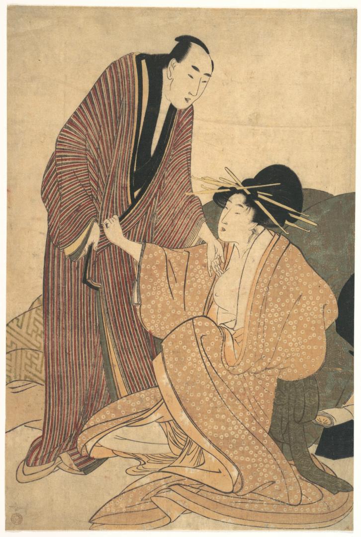 Куртизанка и ее любовник. Япония, ок. 1800