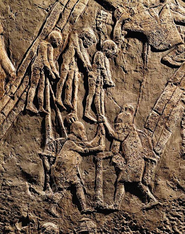 Лахиш. Казнь пленников. Ок. 710 г. до н.э.