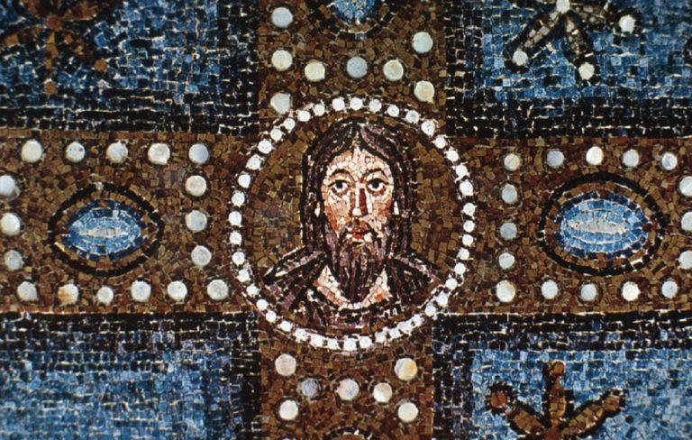 Лик Христа в центре Креста. VI в.