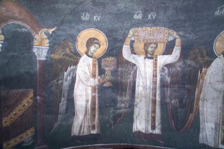 Литургия ангелов. XIV в.