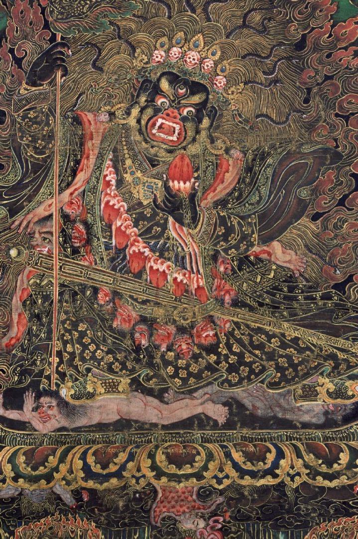 Махакала, защитник дхармы. XIX в. Тибет