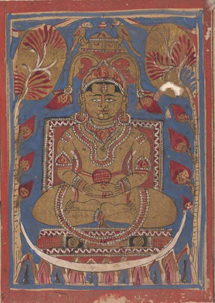 Махавира, сидящий на вершине Вселенной. Индия, XV в.