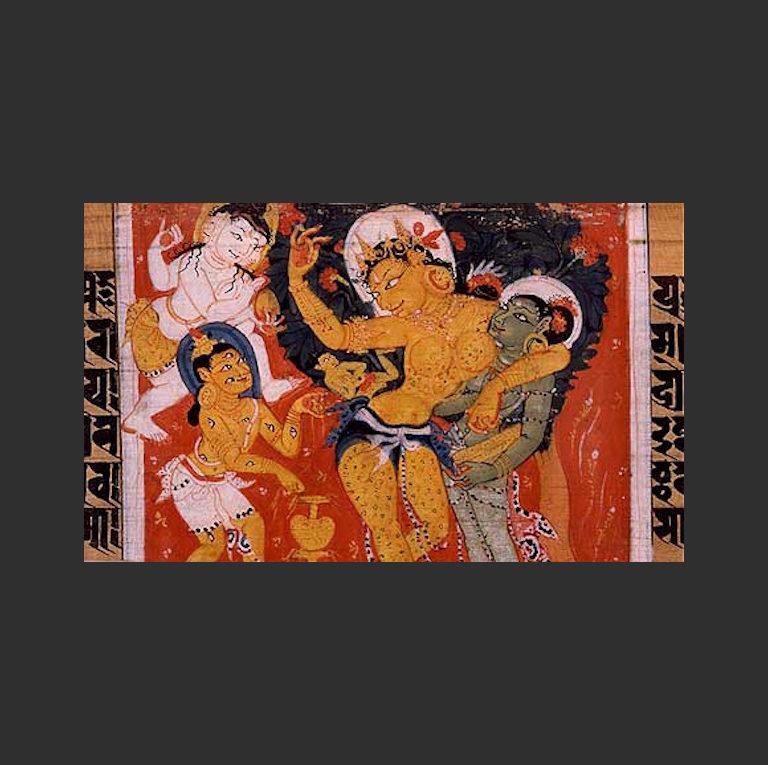 Майя чудесным образом рождает Будду. VIII-XII вв.