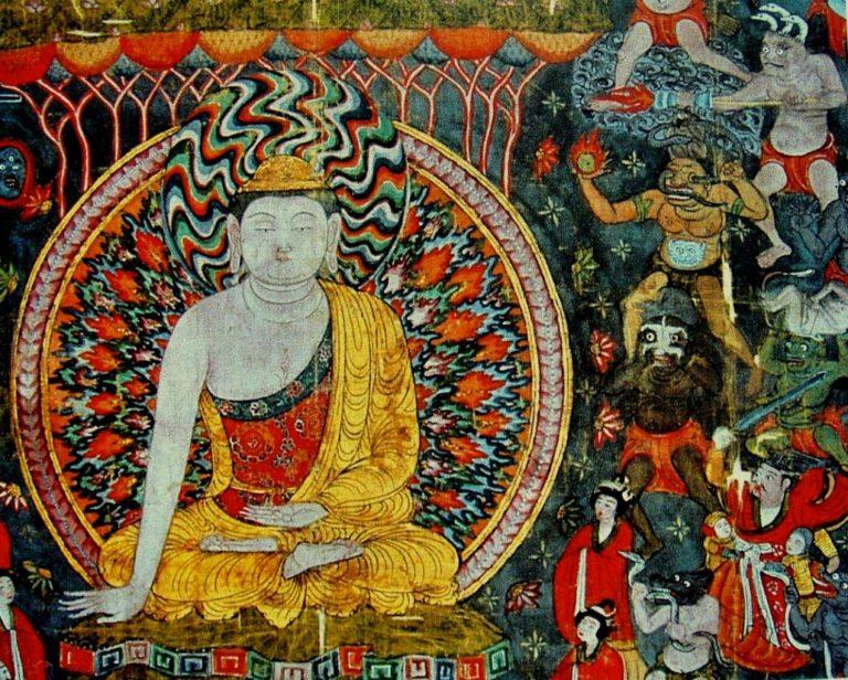 Мара испытывает Будду. X в.