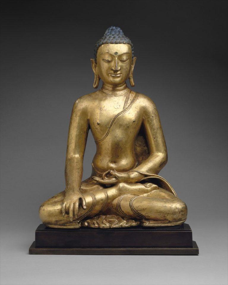 Медитирующий Будда Шакьямуни. Тибет, XI–XII вв.