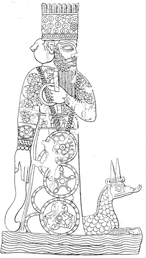 Мардук — верховный бог Междуречья, бог-покровитель города Вавилона после 2024 г. до н.э