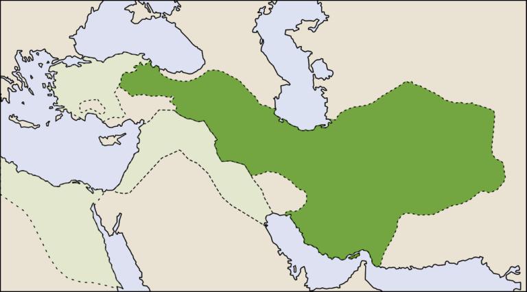 Мидийское царство примерно в 600 г. до н.э