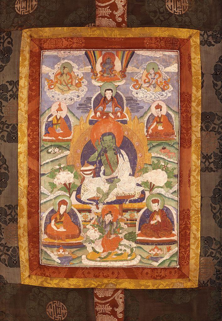 Миларепа, махасиддха тантрического буддизма. Тибет или Непал, XIX в.