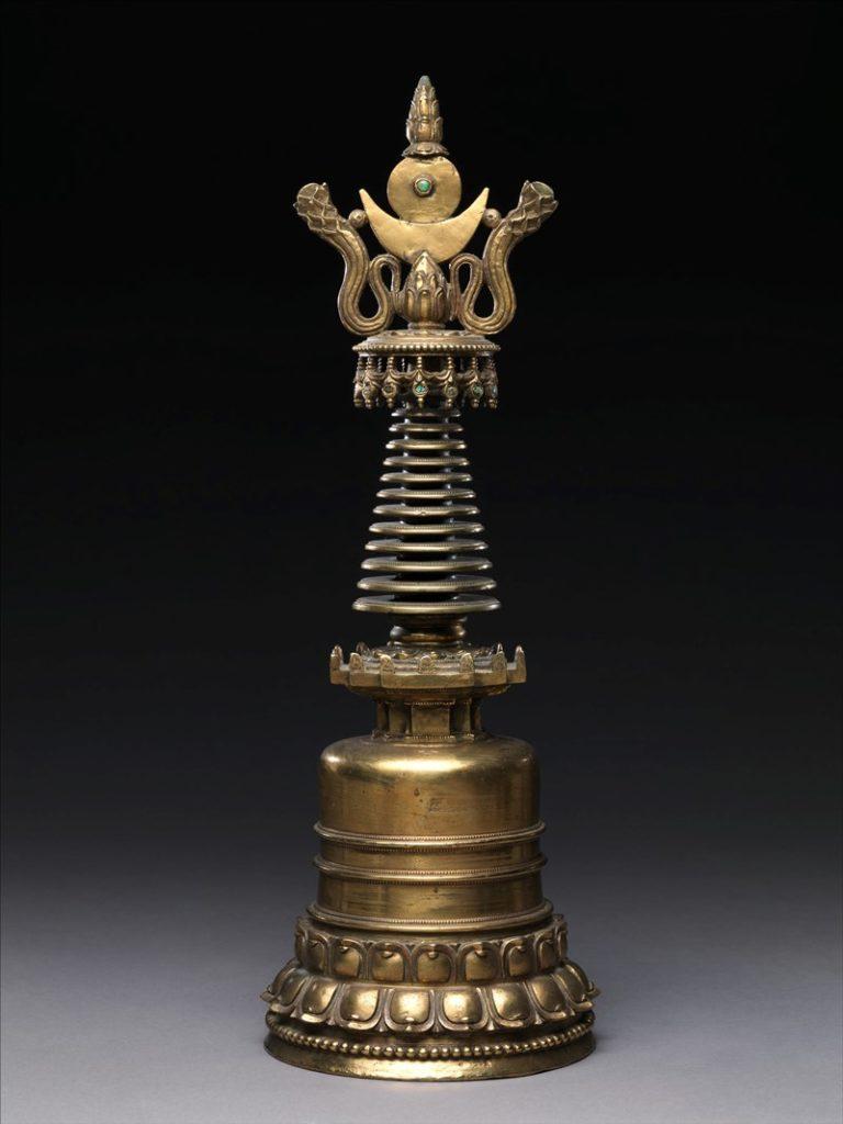 Модель ступы. Тибет, XV в.