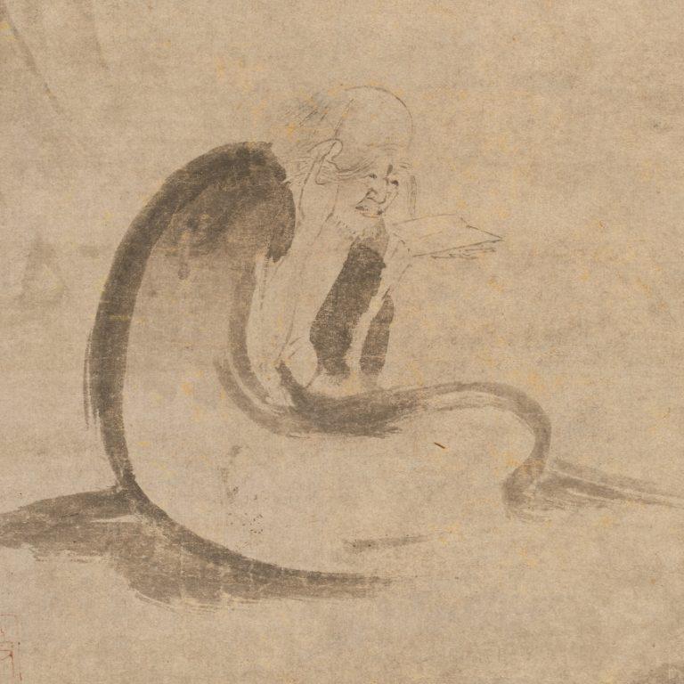Монах читает сутры при луне. Ок. 1332 г. Китай