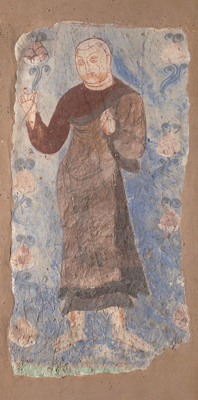 Монах, держащий лотос. Рубеж VI–VII вв. Китай